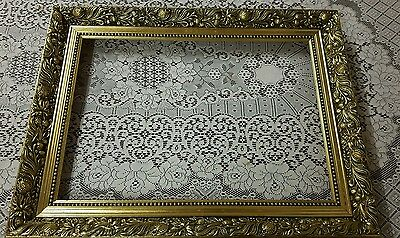 Gold Gilt Wooden  Wedding Display Shabby Chic Gallery Portrait  Picture Frame