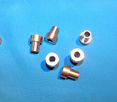 Fixed bushing 6-pack for #2 V-groove bearing RM2-2RS Stnls stl 3/8 OD x 1/4 ID