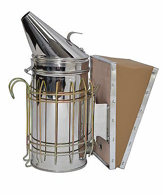 New Bee Hive Smoker Stainless Steel Heat Shield Beekeeping Equipment from VIVO