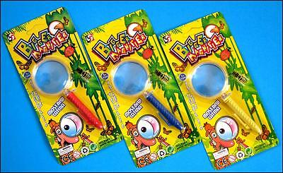 Bulk Lot x 10 Kids Plastic Magnifying Glass Mixed Color Novelty Toy Party Favors