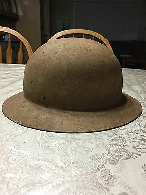 WW 2 Civil Defense Helmet Hat War Vintage