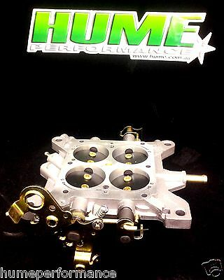 New Holley Gas Base Plate Throttle Body Gas 750 Cfm Carburettor Holden Ford