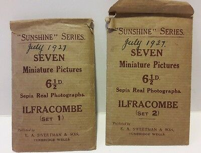 Sunshine series set 1 & set 2, 7 miniature pictures photographs of Ilfracombe