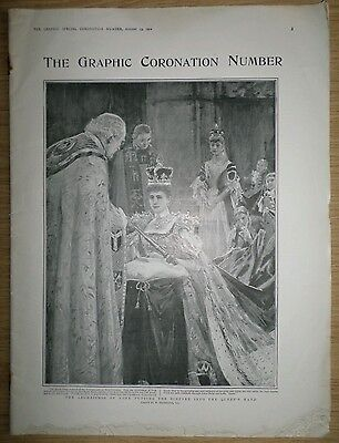 """Very Rare Antique """"the Graphic Coronation Number"""" Magazine. August 1902."""