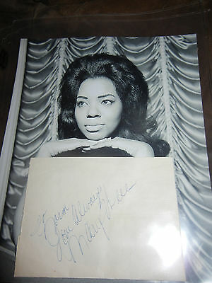 """Mary Wells autograph R&B Soul oldies RARE Signature """"Love Always"""" personal"""