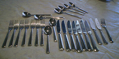 Bulk Lot Of 25 Pieces Of Oneidacraft Stainless Steel Cutlery/flatware