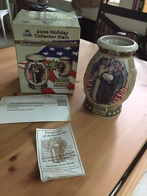 Miller 2002 Holiday Collector Stein Norman Rockwell
