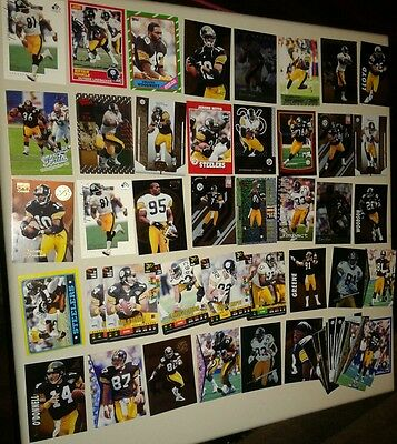 PITTSBURGH STEELERS LOT OF 55 CARDS  with JEROME BETTIS , BEN ROETHLISBERGER