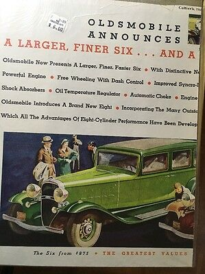 Original Vintage Oldsmobile 1932    2 Pages