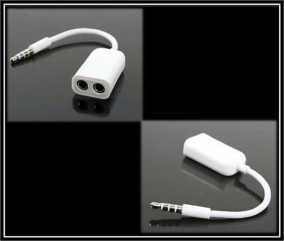 Headphones Microphone Mic Splitter Lead Cable For Samsung Smart Phone