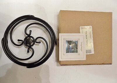 "NEW Longaberger Metalworks Wrought Iron 8"" Trivet 71246"