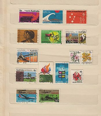 1970 mixed selection of 15 used stamps