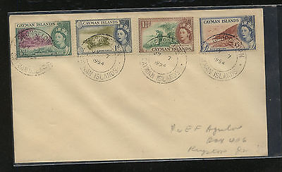 Cayman  Islands  136-38,143 on cover  1954   AT0626