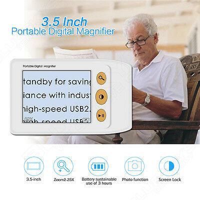 "2.5"" LCD 25X Portable Electronic TV Digital Magnifier Reading Aid for Low Vision"