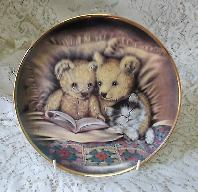 Franklin Mint Bedtime Story Teddy Bear Plate Sue Willis Limited Edition