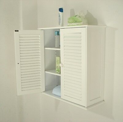 Wooden Wall Bathroom Cabinet/Medicine Cabinet Louvered,HC-011