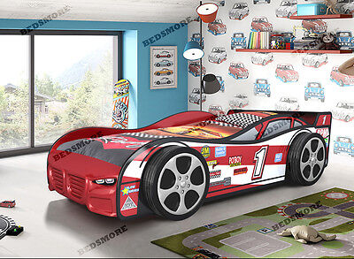 Red Sporty Racing Car Bed for boy, girl and kids