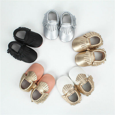 Fashion New Baby Girls Boys Infant Toddler Genuine Leather Moccasins Moccs Shoes