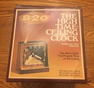 Vintage Stancraft The High Time Ceiling Clock Model No. 7706