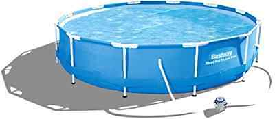Bestway 56416 12 ft x 30-Inch Steel Pro Frame Pool Set with Flow Clear Filter P