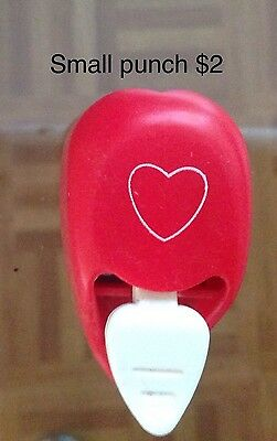 Paper Craft Punch Love Heart Small WE RETURN 3/2/17