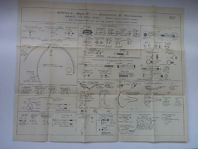 Ww2  Anzac   Aif - Bicycle Mk Iv (Parachutist) -  Wall Chart