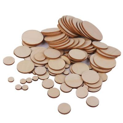 Lot Blank Plain Round Wood Slices Discs Scrapbooking Embellishments Art Craft