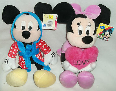"""Disney 16"""" Micky Mouse Minnie Mouse Clubhouse soft toy plush WL Tagged"""
