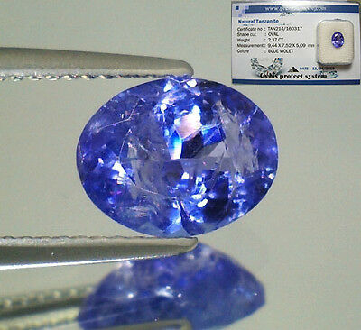 Tanzanite  Naturale Ovale  In Blister Ct. 2,37  Intrattata  Brillante