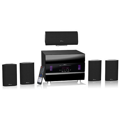 J&L 5.1 Home Theatre speaker system - AV Receiver, Bluetooth, 2x HDMI + FM Radio