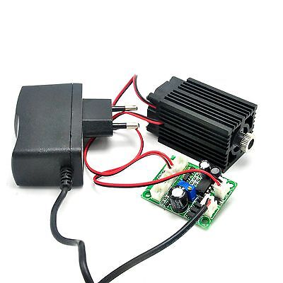 Focusable 650nm 100mw Red Laser Line Diode Module +12V Adapter + Driver TTL +Fan