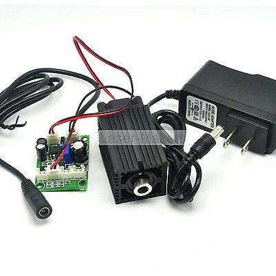 Focusable 650nm 100mw Red Laser Cross Diode Module +12V Adapter +Driver TTL +Fan