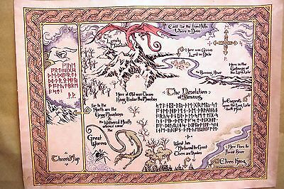 Canvas Middle Earth Map The Hobbit Lord of the Rings