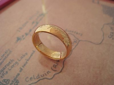 Gold-plated The One Ring The Hobbit The Lord of the Rings Ring ring Lotr