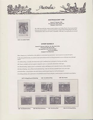 Australian 1990 Seven Seas Hingless set of 9 pages (no stamps)