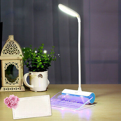 Dimmable Touch Sensor LED Light USB Desk Table Reading Book Message Board Lamp