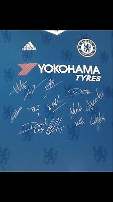 Chelsea FC 2016/2017 signed jersey with COA
