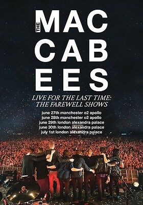 THE MACCABEES Farewell Shows 2017 UK Tour PHOTO Print POSTER London Manchester 4