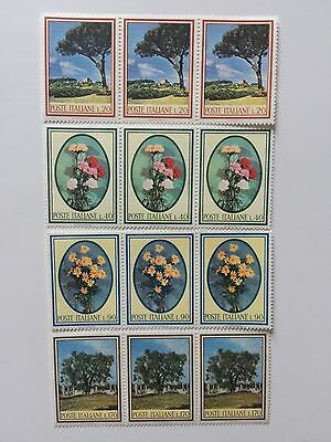 Italy Italian Stamps MNH COLLECTION Block Of 3
