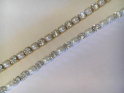 DIY BROWBANDS - 4mm Close Set Pearl Alternate Chain Gold/Silver - QUALITY BLING
