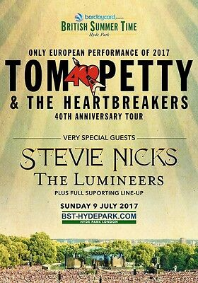 TOM PETTY & THE HEARTBREAKERS London Hyde Park 9 July 2017 PHOTO Print POSTER 2
