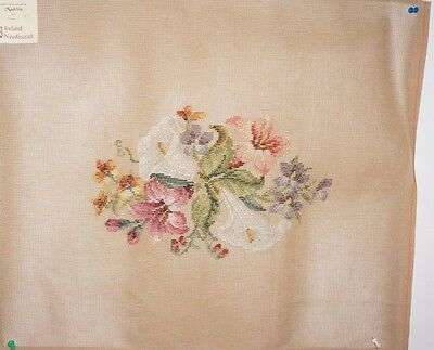 Vintage Needlepoint Tapestry Hand Embroidered in Madeira - Ireland Needlecraft