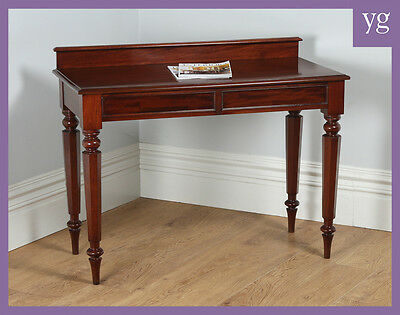 Antique English William IV Mahogany Console Side Hall Serving Table (Circa 1830)