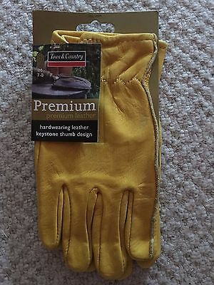 Town and Country TGL105M Premium Leather Gloves Ladies Medium Size 7-8