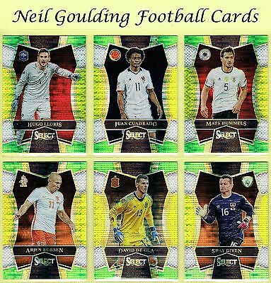 Panini SELECT SOCCER 2016-2017 MULTI-COLOR PARALLEL Mezzanine Cards #101 to #200