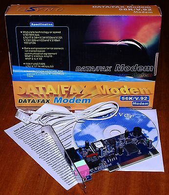 PCI 56K/V.92 internal Modem with Cable and Drivers BNIB