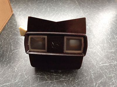 vintage viewmaster stereoscope in original box with 8 photo reels pre 1956