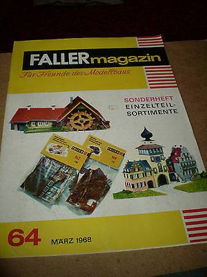 Faller Magazine& Toy Catalogue March 1968 German Edition Excellent For Age