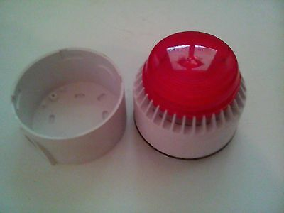 Red flashing alarm beacon and dual sounder