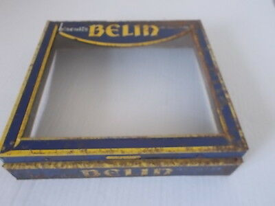 Vintage French Biscuit Tin Top Belin Biscuits